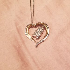 NWOT Yorkie Heart Necklace